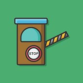 Toll booths vector icon