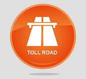Toll road icon