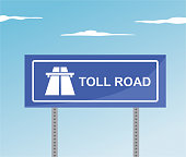 Toll road traffic sign
