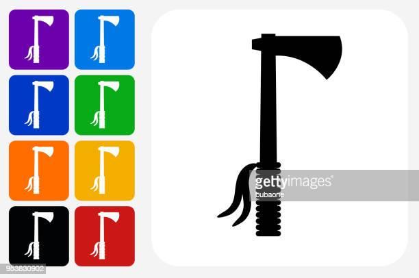 Tomahawk Icon Square Button Set