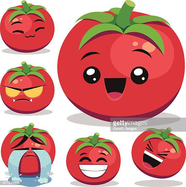 ilustrações de stock, clip art, desenhos animados e ícones de tomate mulher set b - kawaii