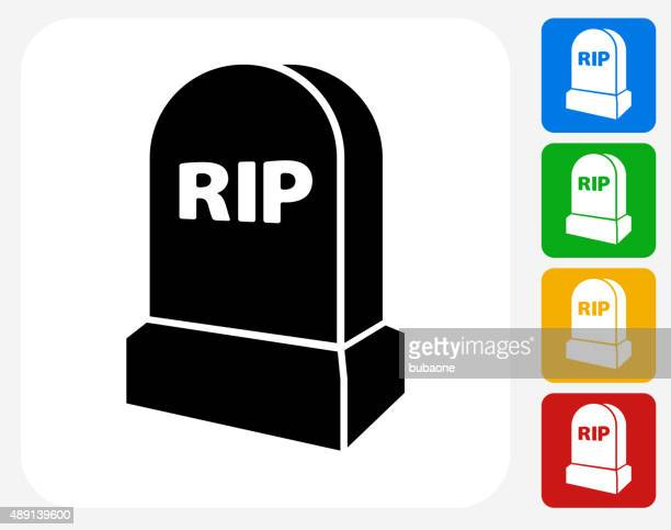 rip tombstone icon flat graphic design - terminal illness stock illustrations, clip art, cartoons, & icons