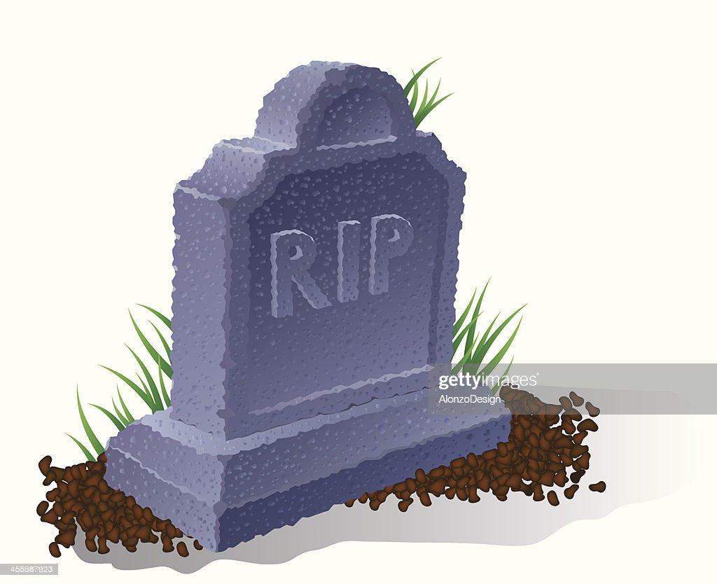 Tombstone : stock illustration