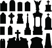 Tombstones and grave monuments