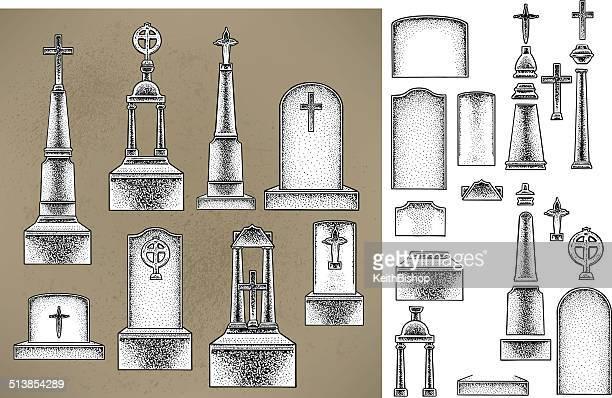 tombstones 、墓地 - クリプト点のイラスト素材/クリップアート素材/マンガ素材/アイコン素材