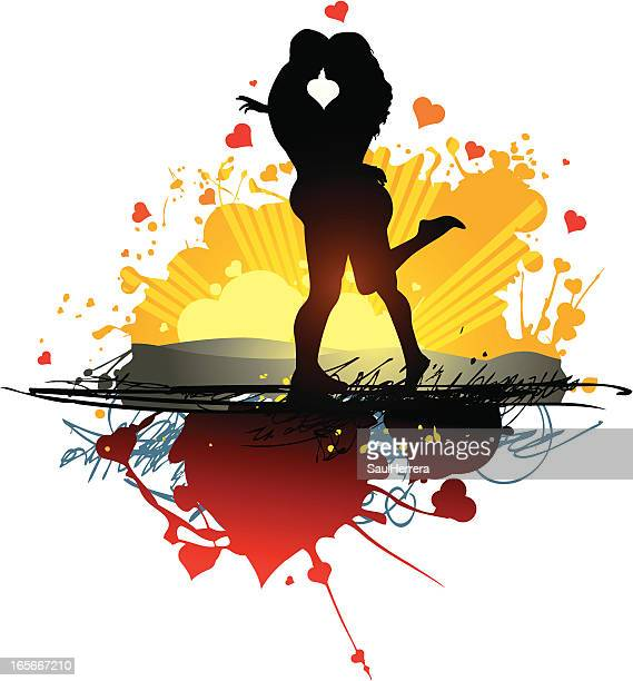 too much love - couple - sex and reproduction stock illustrations, clip art, cartoons, & icons