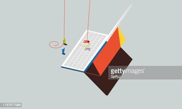 あまりにも多くの仕事 - コンピュータキーボード点のイラスト素材/クリップアート素材/マンガ素材/アイコン素材