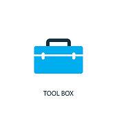 Tool box icon. Logo element illustration