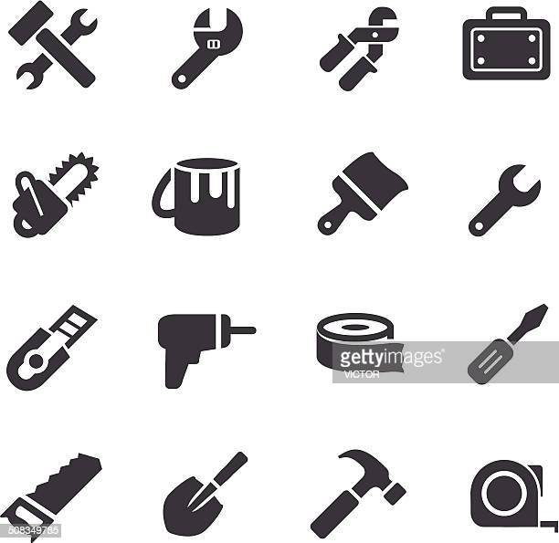 tool icons - acme series - hammer stock illustrations