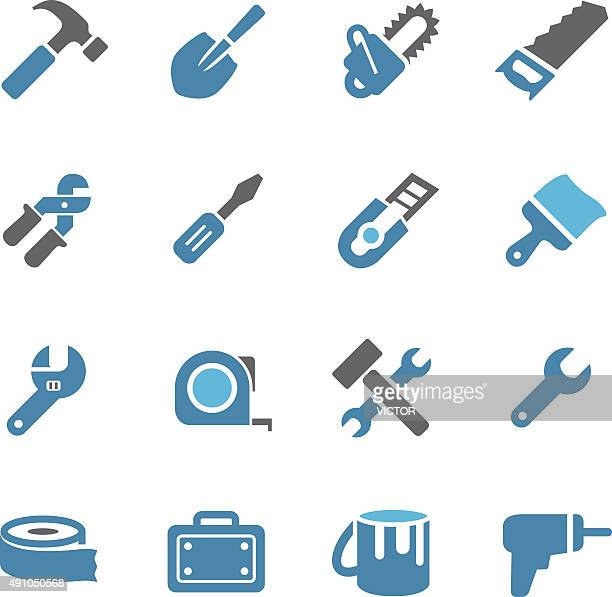 tool icons - conc series - tape measure stock illustrations