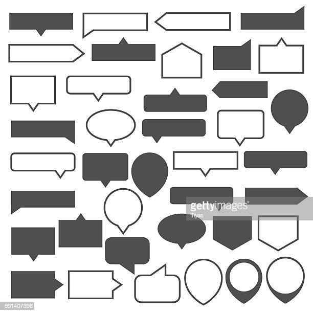 tool tip set - distance marker stock illustrations