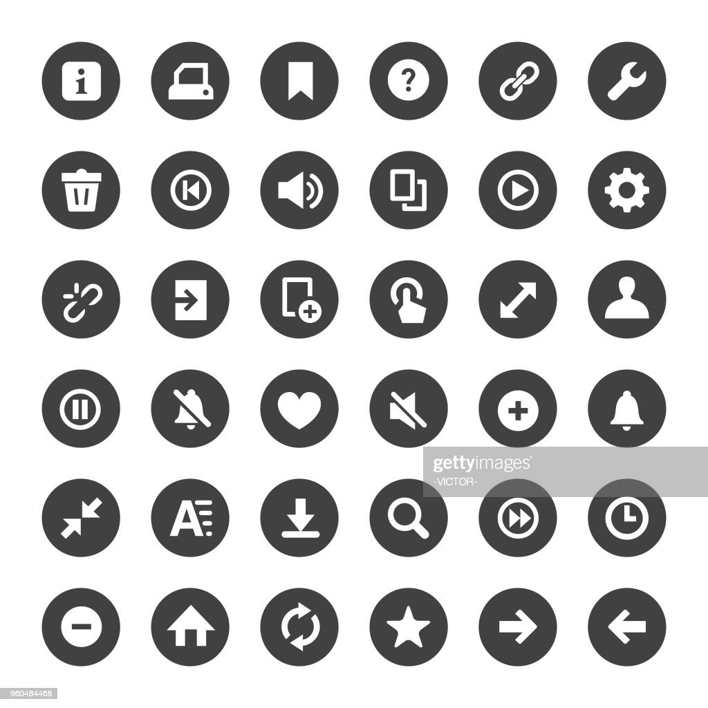 Toolbar and Control Icon - Big Circle Series