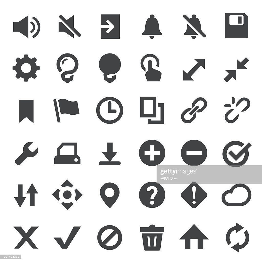Toolbar and control Icons Set - Big Series