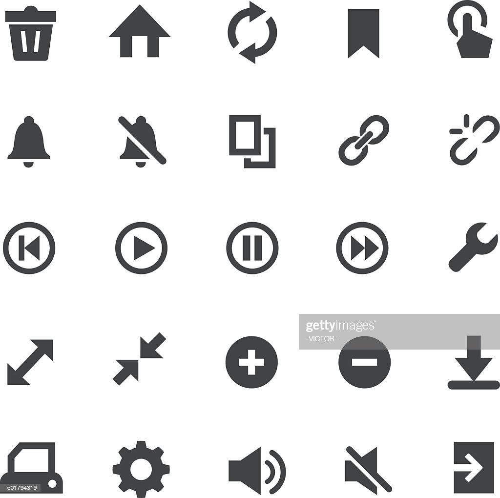 Toolbar and control Icons - Smart Series
