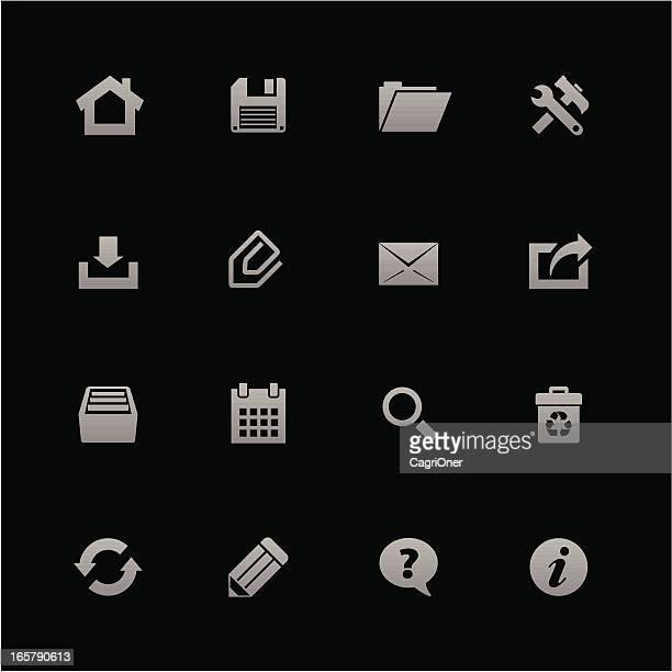 ilustraciones, imágenes clip art, dibujos animados e iconos de stock de barra de herramientas iconos: android serie - sistema operativo