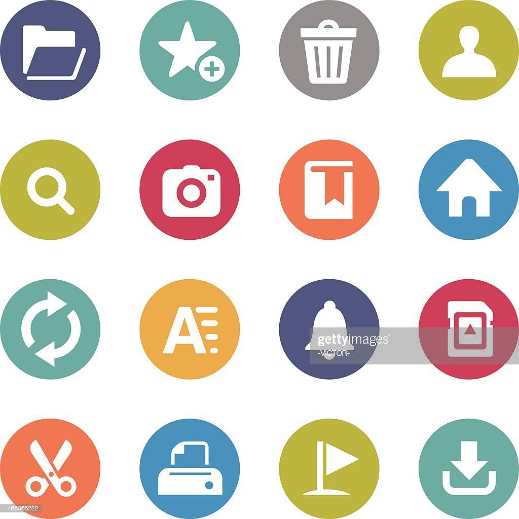 Toolbar Icons - Circle Series