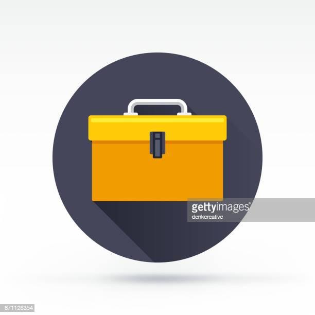 ilustraciones, imágenes clip art, dibujos animados e iconos de stock de icono de herramientas - caja de herramientas
