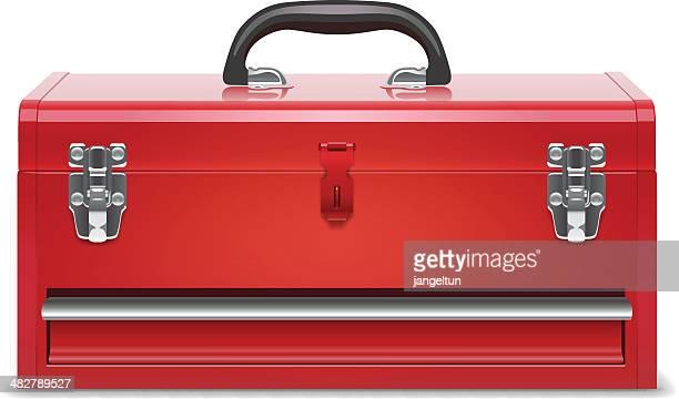 ilustraciones, imágenes clip art, dibujos animados e iconos de stock de caja de herramientas - caja de herramientas