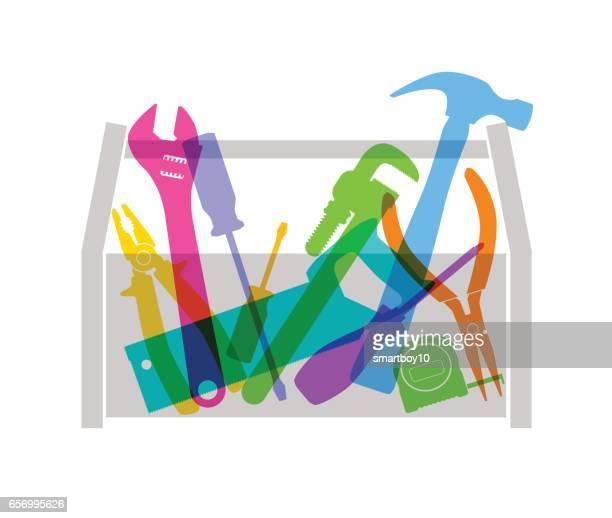 werkzeugkasten - werkzeug stock-grafiken, -clipart, -cartoons und -symbole