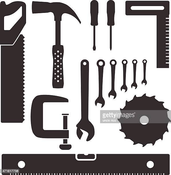 tools and instruments flat icons
