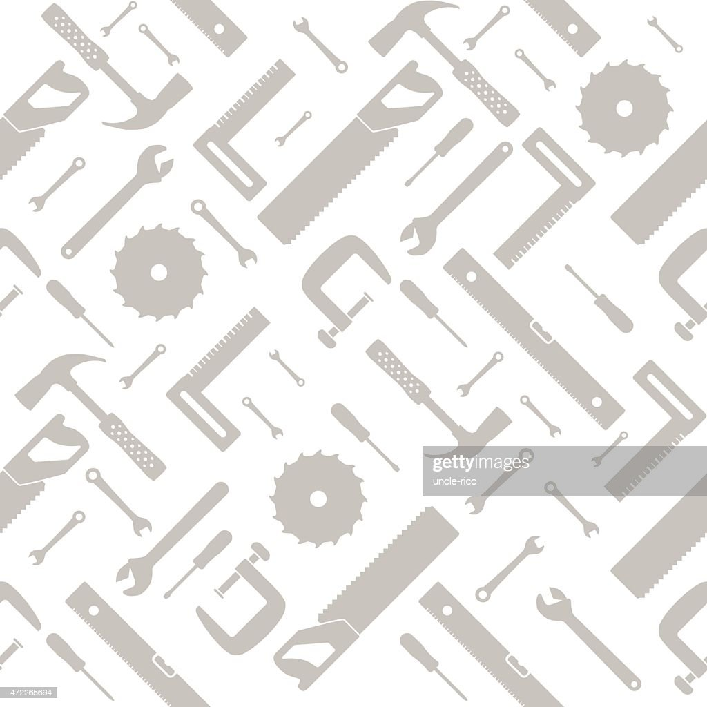tools and instruments seamless pattern