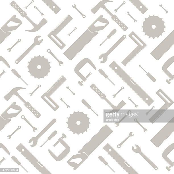 tools and instruments seamless pattern - work tool stock illustrations
