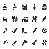 Tools and painting icons