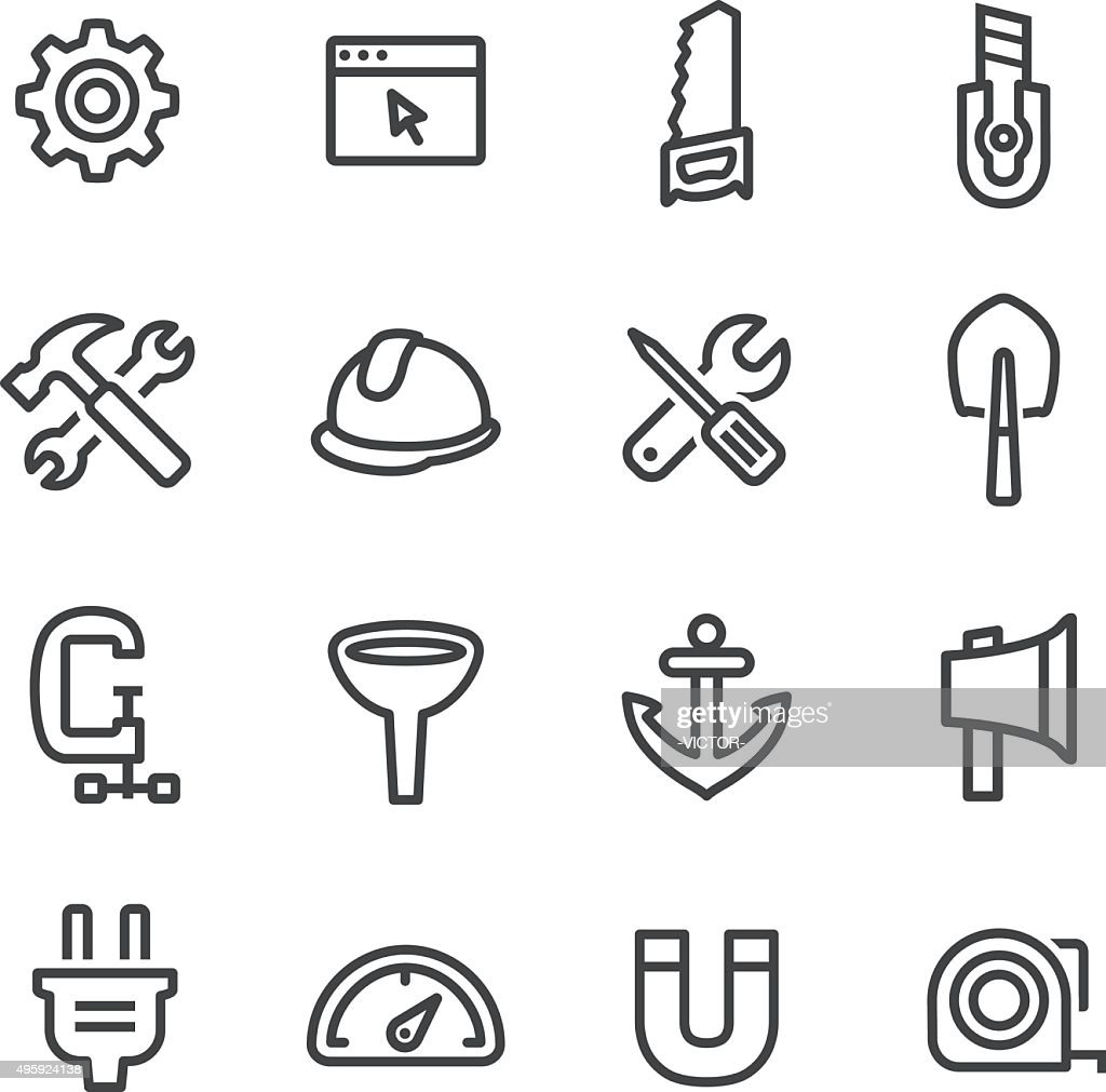 Tools and Settings Icons - Line Series