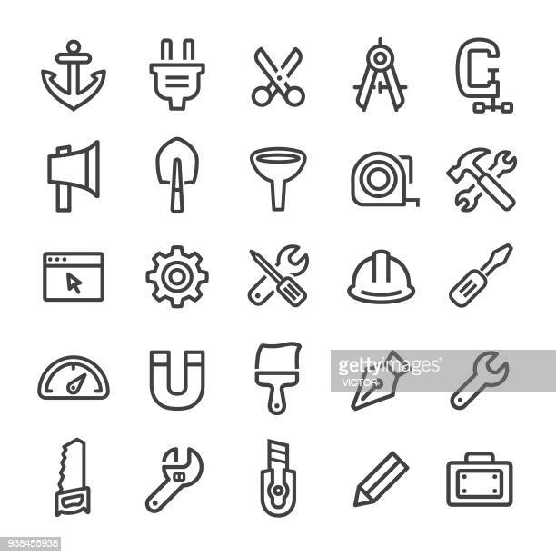 Tools and Settings Icons - Smart Line Series