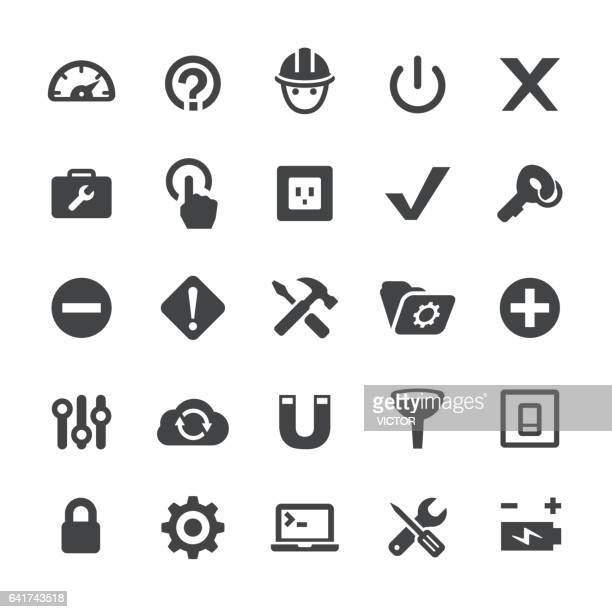 tools and settings icons - smart series - switch stock illustrations, clip art, cartoons, & icons