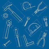 Tools Blueprint Background