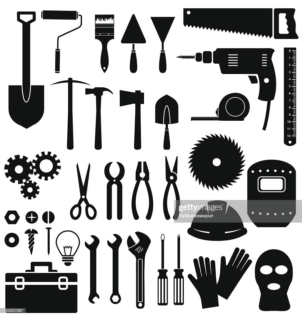 Tools icon on white background