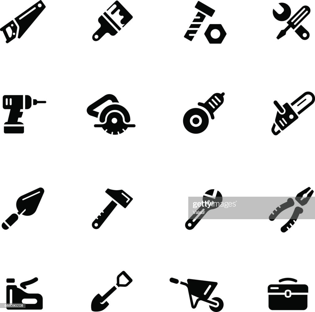 Tools Icons // Black Series