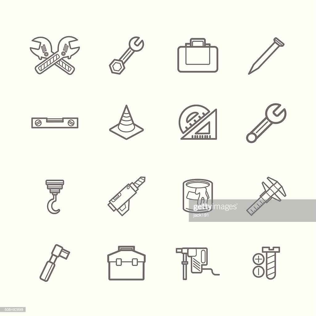 Tools icons eps.10