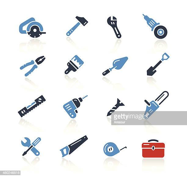 tools icons two color | pro series - power tool stock illustrations, clip art, cartoons, & icons