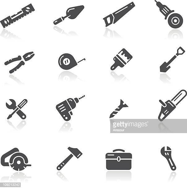 ilustraciones, imágenes clip art, dibujos animados e iconos de stock de iconos de herramientas - bricolaje