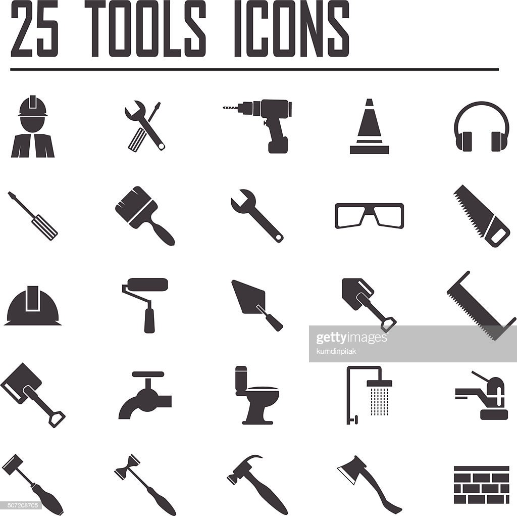 25 Tools Icons