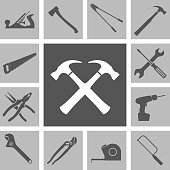 Tools icons. Vector