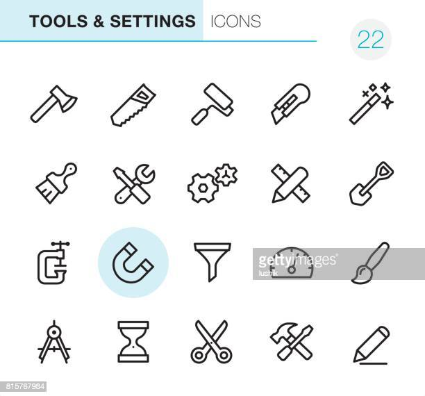 tools & settings - pixel perfect icons - scissors stock illustrations