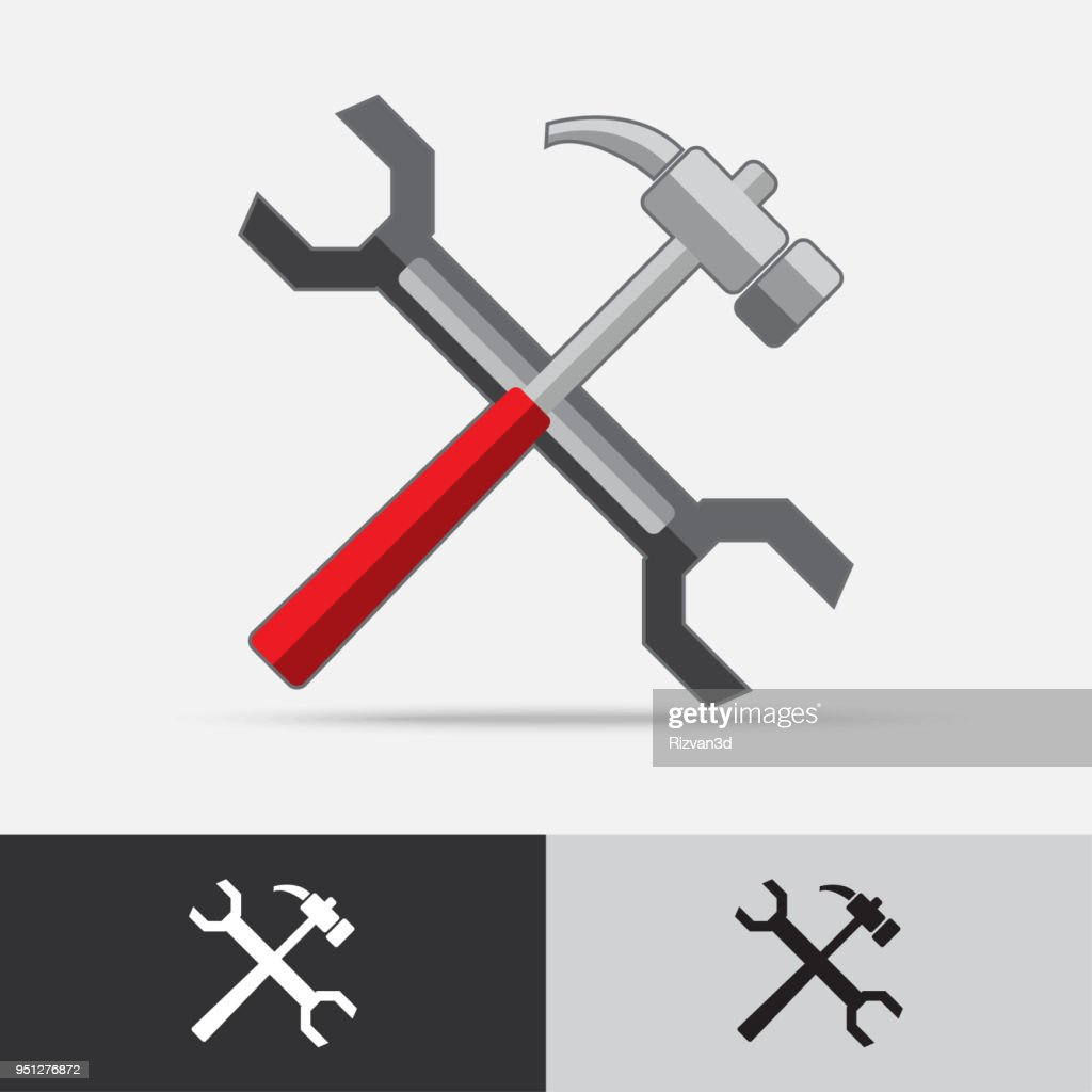 Tools Vector Icon Flat Design