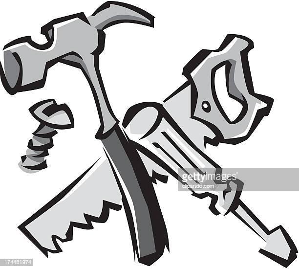 tools - serrated stock illustrations, clip art, cartoons, & icons