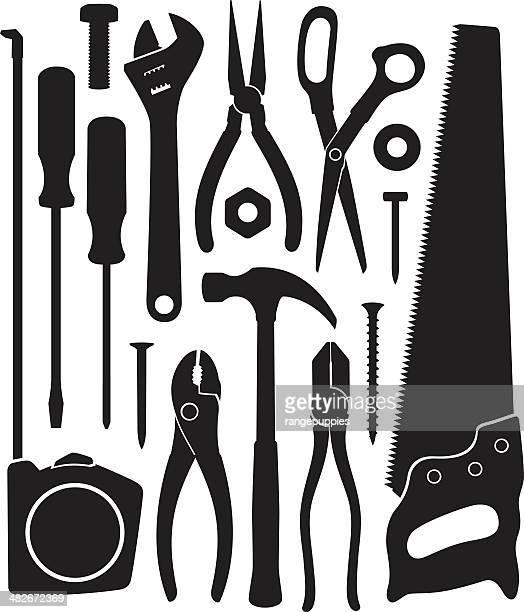 stockillustraties, clipart, cartoons en iconen met tools - nut bolt