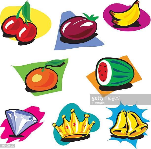 Conjunto de frutas Toons