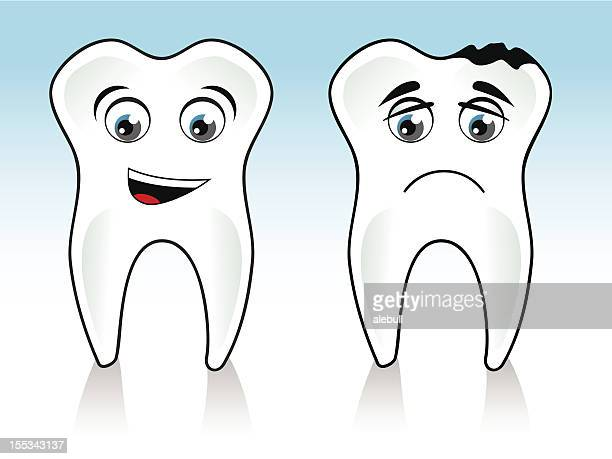 tooth and caries - toothache stock illustrations, clip art, cartoons, & icons