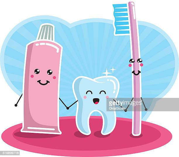 Tooth, brush and paste - best friends forever