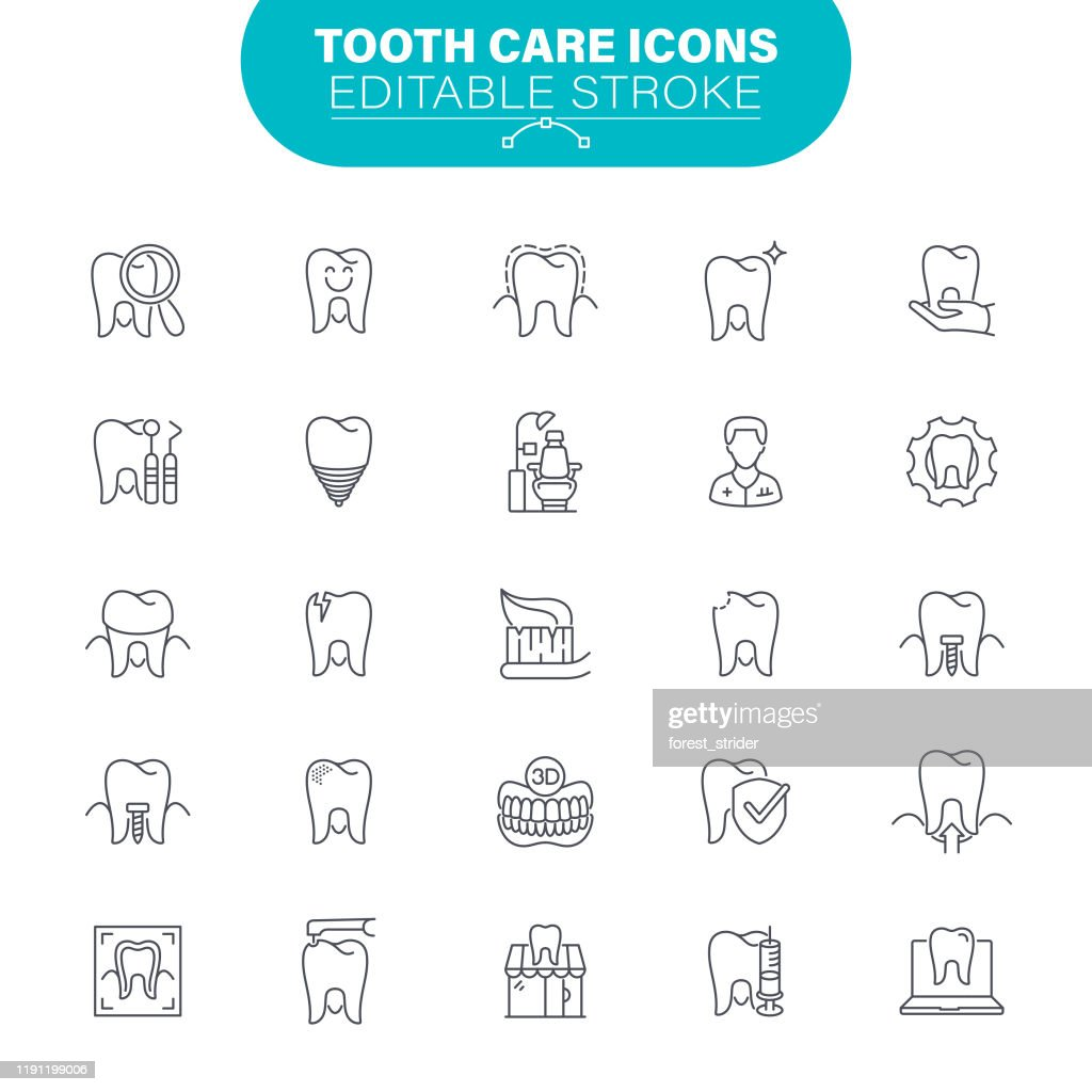 Tooth Care Icons : stock illustration