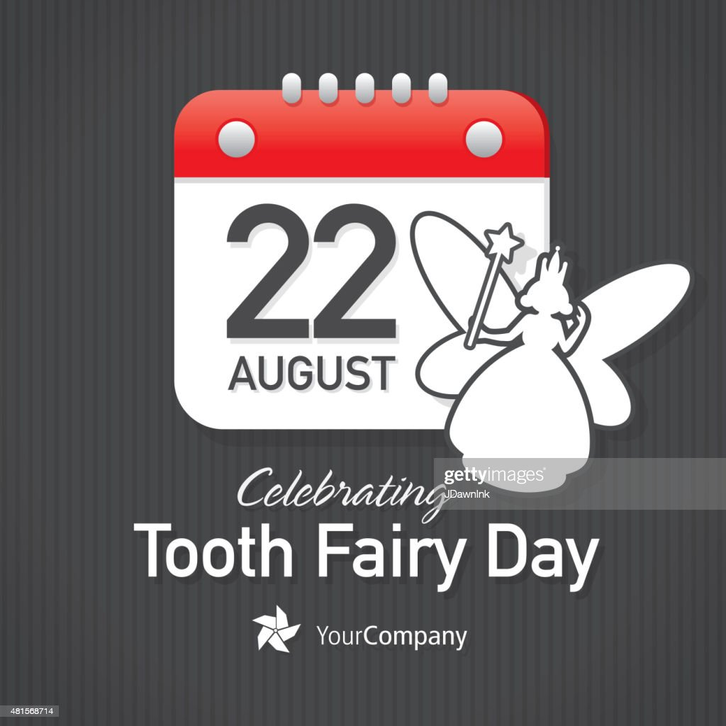 Tooth Fairy Appreciation Day Calendar Design Layout Template Vector