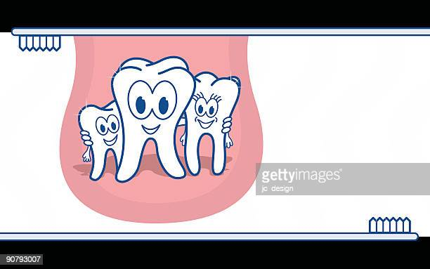 tooth family - kids hugging mom cartoon stock illustrations