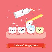 Tooth hygiene icon set