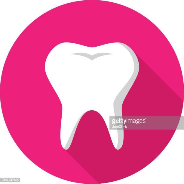 ilustraciones, imágenes clip art, dibujos animados e iconos de stock de dientes icono plana - dolordemuelas